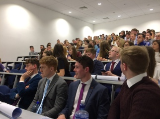 3rd and 4th Year PE Students attending keynote by John Halbert
