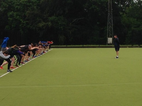 Nick Winkelman delivering workshop on maximum speed development