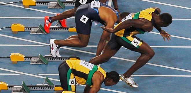 _Usain Bolt Start and Disqualification 100m Final World Championship 2011_